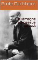 Durkheim allemagne